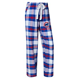 Chicago Cubs Concepts Sport Women's Headway Flannel Pants – Royal/Red