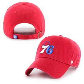 Philadelphia 76ers Red Logo Cleanup Adjustable Cap