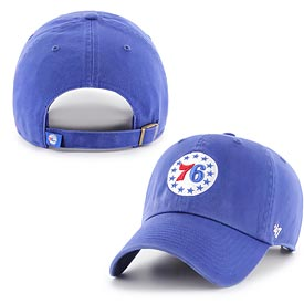 Philadelphia 76ers Royal Stars Logo Cleanup Adjustable Cap