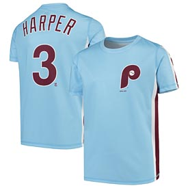 Philadelphia Phillies Bryce Harper Youth Sublimated Jersey Tee