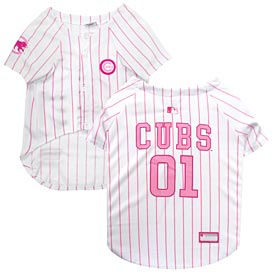 Chicago Cubs Pink Dog Jersey