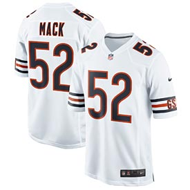 Chicago Bears Kahlil Mack White Game Jersey