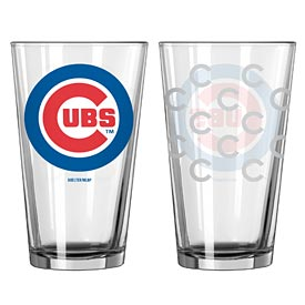 Chicago Cubs Satin Etched Pint Glass