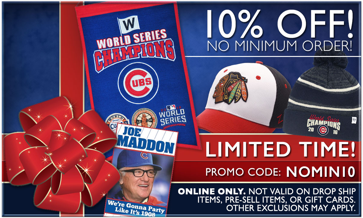 10% Off - No Order Minimum - Coupon Code: NOMIN10 - Limited Time Offer. Exclusions Apply. Online Only.