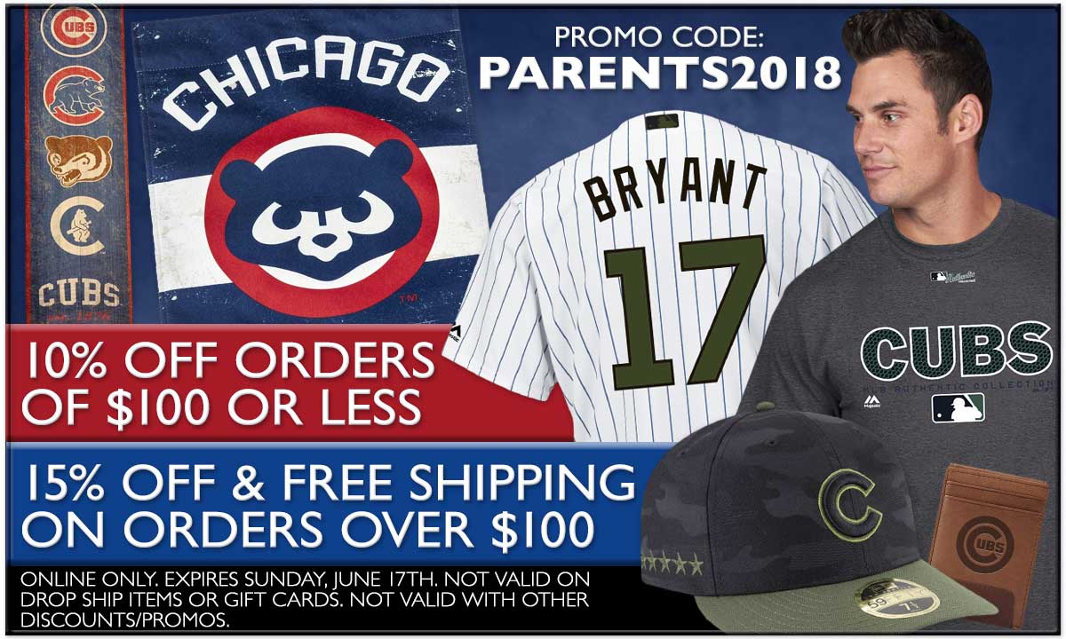 10% Off Orders Under $100. 15% Off and Free Standard Shipping on Orders Over $100. Expires June 17. Exclusions Apply. Promo Code: PARENTS2018