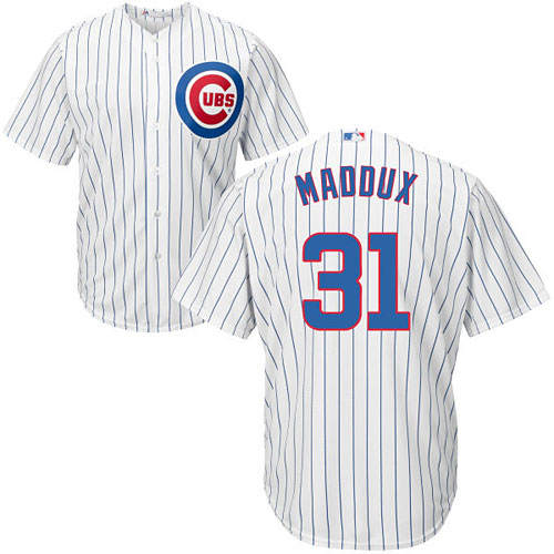 on sale 0775b 7acdc Chicago Cubs Greg Maddux Home Cool Base Replica Jersey