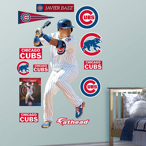 Chicago Cubs Javier Baez Batting Real Big Fathead