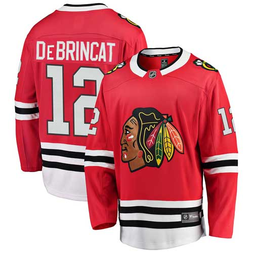 ed55cc042db Chicago Blackhawks Alex DeBrincat Home Breakaway Jersey w/ Authentic  Lettering