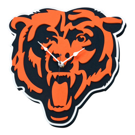 Chicago Bears 3D Foam Clock