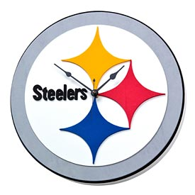 Pittsburgh Steelers Foam Clock
