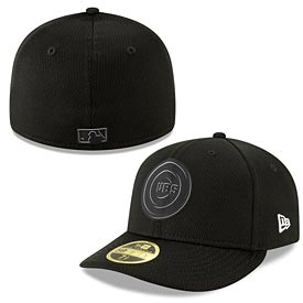 Chicago Cubs 2019 Black and White Clubhouse Low Profile 59FIFTY Fitted Cap