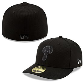 Philadelphia Phillies 2019 Black and White Low Profile Clubhouse 59FIFTY Fitted Cap