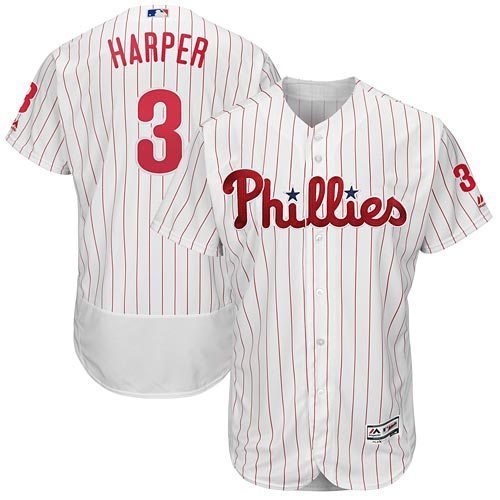 f2afefd271e Philadelphia Phillies Bryce Harper Authentic Home Flex Base Jersey