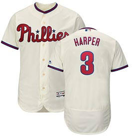 Philadelphia Phillies Bryce Harper Authentic Alt Ivory Flex Base Jerse