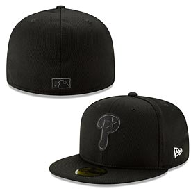 Philadelphia Phillies 2019 Black and White Clubhouse 59FIFTY Fitted Cap