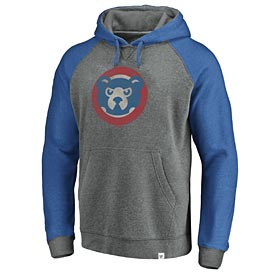 Chicago Cubs Coop Logo Distressed Tri Blend Hood