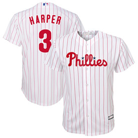 Philadelphia Phillies Youth Bryce Harper Home Cool Base Replica Jersey