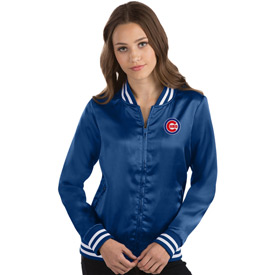 Chicago Cubs Ladies Strut Satin Jacket