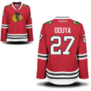 Chicago Blackhawks Johnny Oduya Ladies Red Premier Jersey w/ Authentic Lettering