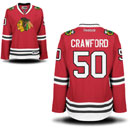 Chicago Blackhawks Corey Crawford Ladies Red Premier Jersey w/ Authentic Lettering