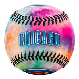Chicago Cubs Color Blast Tie Dye Ball