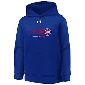 Chicago Cubs Under Armour Youth Armour Fleece Hood Sweatshirt