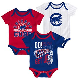 Chicago Cubs Newborn Newest Rookie Creeper Set