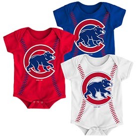 Chicago Cubs Newborn Running Home Creeper Set