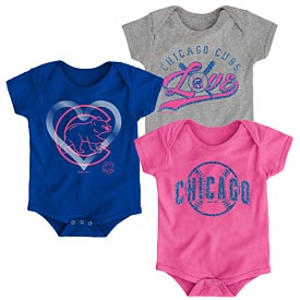 Chicago Cubs Newborn Girls Cute Catcher Creeper Set