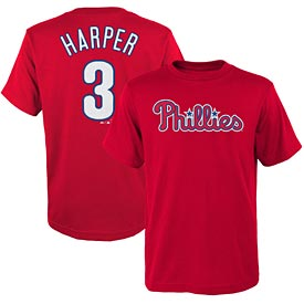 Philadelphia Phillies Bryce Harper Preschool Name and Number T-Shirt