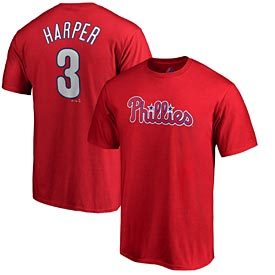 Philadelphia Phillies Bryce Harper Toddler Name and Number T-Shirt