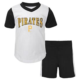 Pittsburgh Pirates Infant Little Hitter Short and Tee Set