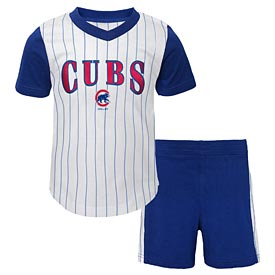 Chicago Cubs Infant Little Hitter Short/Tee Set
