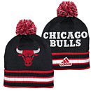 Chicago Bulls Cuffed Pom Knit Hat