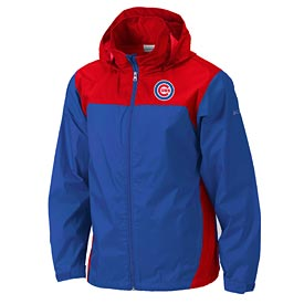 Chicago Cubs Columbia Royal / Red Glannaker Rain Jacket
