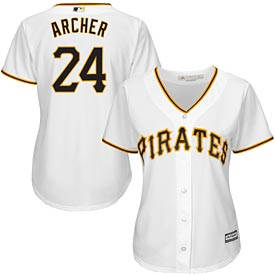 Pittsburgh Pirates Chris Archer Ladies Home Replica Jersey