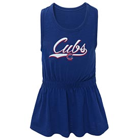 Chicago Cubs Toddler Shout Tank Dress
