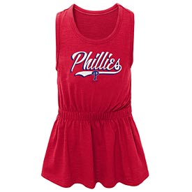 Philadelphia Phillies Toddler Shout Tank Dress