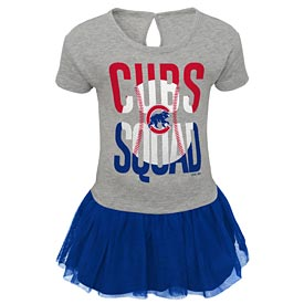 Chicago Cubs Toddler Fan Squad T Shirt Dress