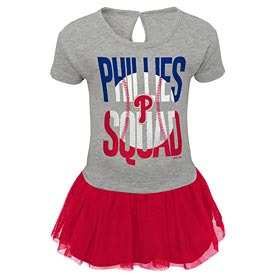 Philadelphia Phillies Infant Fan Squad T Shirt Dress
