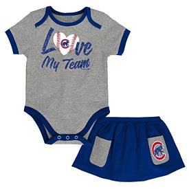 Chicago Cubs Newborn Sweet Save Creeper/Skirt Set