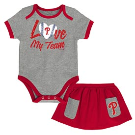 Philadelphia Phillies Infant Sweet Save Creeper and Skirt Set