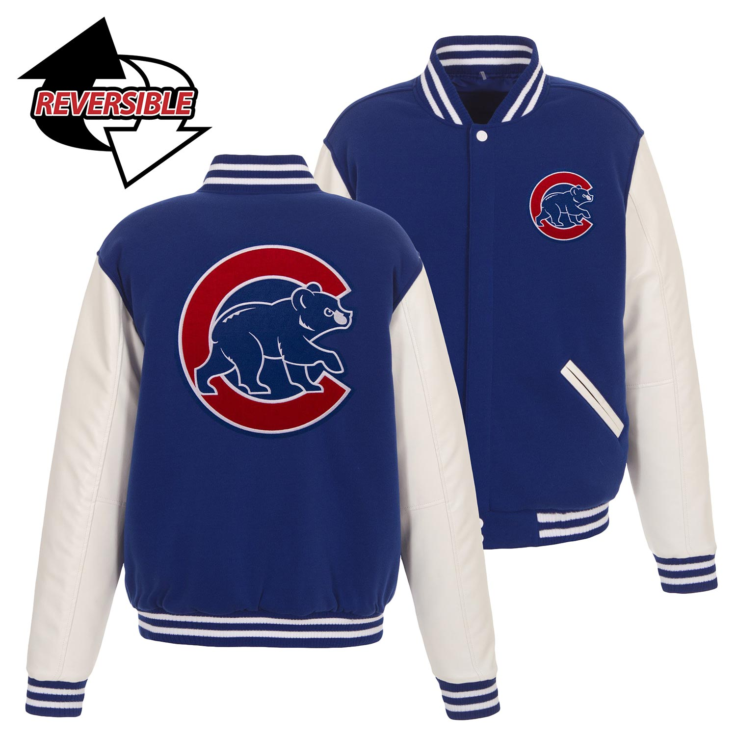 Chicago Cubs Walking Bear Reversible Jacket