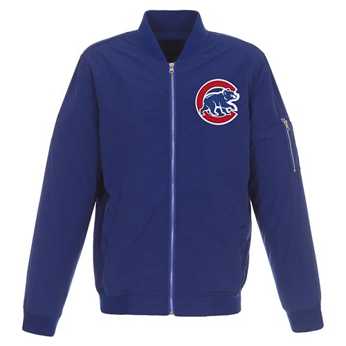 Chicago Cubs Nylon Bomber Jacket