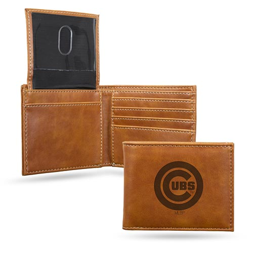 Chicago Cubs Laser Engraved Billfold Wallet