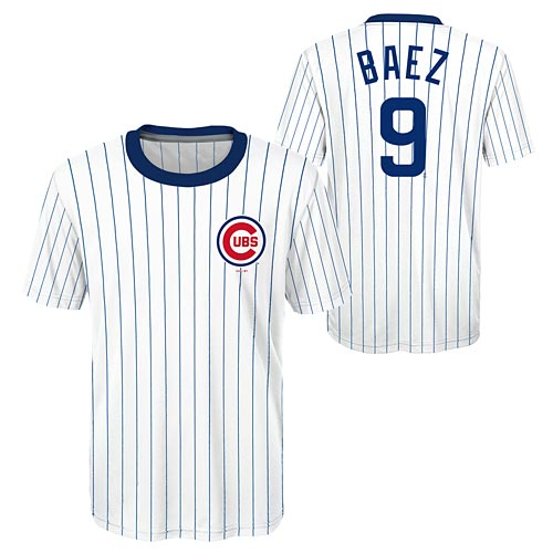 official photos 7b913 00c46 Chicago Cubs Javy Baez Youth Sublimated Jersey T-Shirt