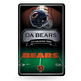 Chicago Bears Metal Embossed 11X17 Wall Sign
