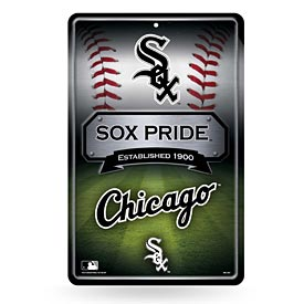 Chicago White Sox 11X17 Metal Embossed Wall Sign