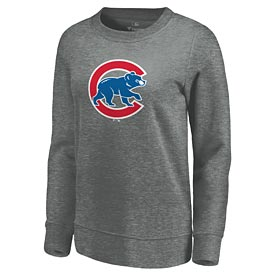 Chicago Cubs Ladies Logo Fleece Crew