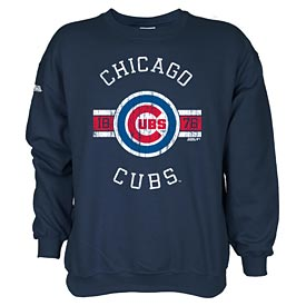 Chicago Cubs Long Sleeve Fleece Crew Tee